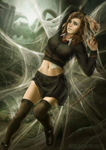 Hermione & Aragog cover